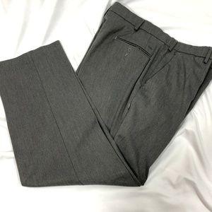 Dockers dress slacks grey flat front size 36 x 30